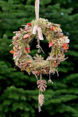 Herbstkranz zum Aufhängen