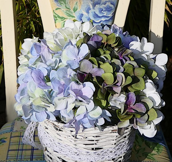 hortensienbuntholzstuhl